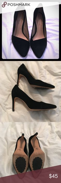 Antonio Melani black cut out pumps Good used condition. Have some imperfections (like inside and bottom) but not really noticeable when wearing. Super comfortable ANTONIO MELANI Shoes Heels