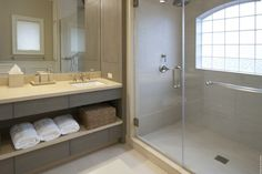 Idea...make the window in the shower bigger like this.  This could work for guest bathroom...