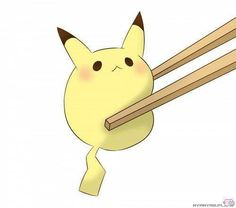 Eating pikachu :3