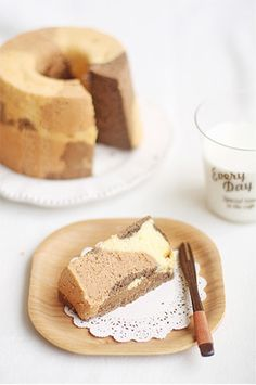 tortoise shell patterned chiffon cake