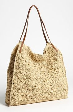Straw Studios Crochet Tote available at Nordstrom - for inspiration no pattern