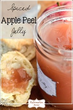 Don't throw away those apple peels! Instead make a cinnamon spiced, apple peel jelly! Oh my, it's SO GOOD slathered on a buttermilk biscuit!