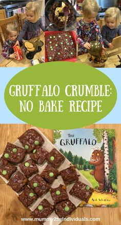 World Book Day: No Bake Gruffalo Crumble Recipe - Looking for inspiration for world book day? Why not try this simple no bake tray bake with a Gruffa - Gruffalo Activities, Gruffalo Party, The Gruffalo, Gruffalo Eyfs, Autumn Eyfs Activities, Gruffalo Costume, Kids Cooking Recipes, Easy Cooking, Kids Meals