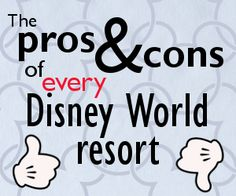 There are several Disney World resorts that you could choose for your trip. Here's a breakdown of the pros and cons of every WDW resort to help you decide.