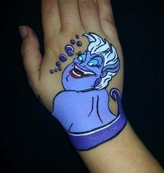Hand painting of Ursula from The Little Mermaid! Disney face painting  By…