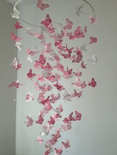 Monarch Butterfly Chandelier   Mobile - a touch of white