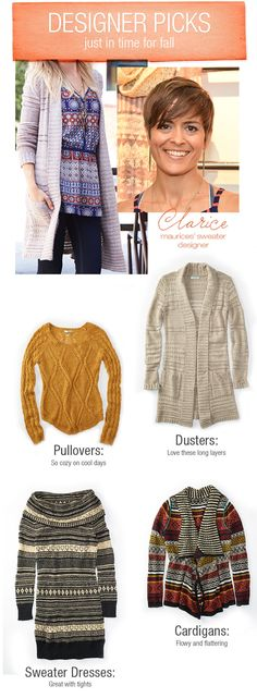 Designer Picks- Just in time for Fall! Check out Clarice's favorite sweaters and how to wear them!