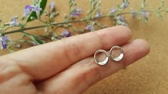 6 mm Open Circle Sterling Silver Open Circle by Happinesssilver