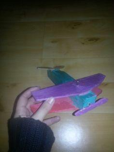 Vliegtuig van hout knutselen kinderen kids