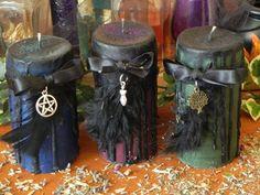 Dark Goddess Pillar Candles Fertility by SandiEnchantedGarden, $12.50