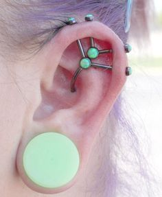 Industrial Strength components. I love the sea foam green faux opals.