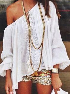 White Off Shoulder Lace Detail Tie Front Long Sleeve Blouse