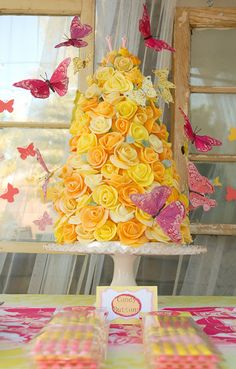 sweet yellow butterfly cake    butterfly party ideas and inspiration  #butterfly   #cake