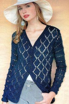 hermoso suéter calado