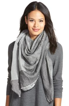 Eileen Fisher JacquardSquare Scarf available at #Nordstrom