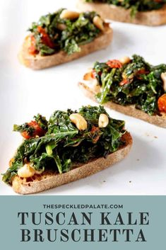 Break free of the winter doldrums and make veggie-filled, healthy Vegan Tuscan Kale Bruschetta tonight for dinner or a party appetizer. #vegan #appetizer