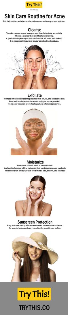 Skin Care Routine for Acne Step by Step