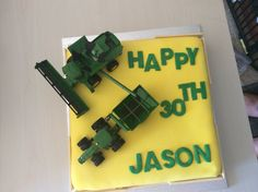 John Deere cake made in 2013 for a guy who is mad keen on John Deeres.