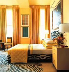 Curtains For Bedrooms And Their Ideas : Curtains For Yellow Bedroom. Curtains for yellow bedroom. Interior Dorado, Travel The World For Free, London Tips, Yellow Bedding, Instagram Design, Yellow And Brown, Blackout Curtains, Travel Style, Interior Design