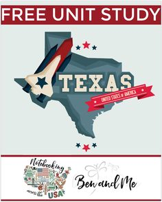 """FREE Texas Unit Study for grades 3-8 -- learn about the """"Lone Star State"""" in this 28th installment of Notebooking Across the USA."""