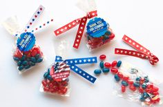 4th of July Candy Favors + DIY Twist Tie Tutorial