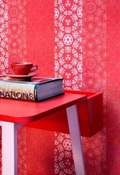#Red Wallpaper / #Rood #behang collectie Impulse - BN Wallcoverings