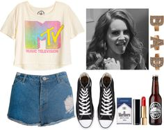 """""""Lana Del Rey inspired outfit"""" by lola-styleson ❤ liked on Polyvore"""