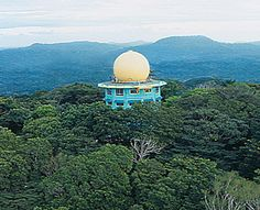 World's Most Unusual Hotels:   Photo: Courtesy of Canopy Tower   Canopy Tower, Panama:   What It Is: A onetime U.S. radar installation inside Panama's Soberania National Park with 12 double rooms.    The Experience: Spread across five levels, the spacious, wood-paneled rooms in the Canopy Tower come with mosquito nets, windows, and most with en suite bathrooms. But the real reason to stay is what's up above: a 30-foot-high geotangent dome that rises above the canopy, affording birders…