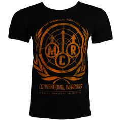 My Chemical Romance merch - MCR t shirts - official band tees UK ($24) ❤ liked on Polyvore
