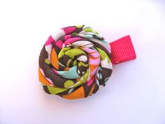 Multicolor Rosette Clip  A Clip to Match by PoppyandPippa on Etsy, $3.25