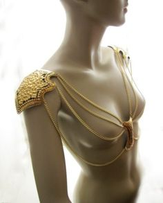 What Would Khaleesi Wear?Gold Armor Epaulet submitted by lady-loki-laufeyson