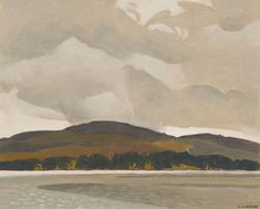 """Across Penn Lake,"" Alfred Joseph (A.) Casson, oil on board, 12 x private collection. Tom Thomson, Group Of Seven, Art Auction, Online Art, Joseph, Oil, Landscape, Board, Artist"