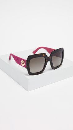 2ae27463d6 Gucci Pop Glitter Iconic Oversized Square Sunglasses Gucci Sunglasses