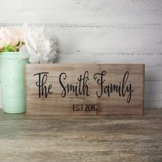 Family EST Wood Sign Made From Reclaimed by CountryLivingAtHeart