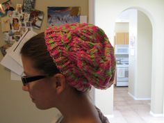 hat for Ayla  Pattern is Star Crossed Slouchy Beret found on Rav