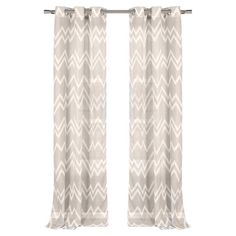 Add a pop of style to your master suite or den with this lovely curtain, showcasing a chic chevron motif in mocha.   Product: Set of ...