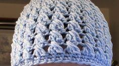 How to crochet a criss cross puff stitch beanie -