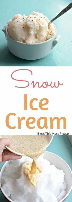 Keto Ice Cream Brand, Joy Ice Cream, Snow Cream, Ice Cream At Home, Yummy Ice Cream, Ice Cream Candy, Ice Cream Recipes, Snow Icecream Recipe, Snow Recipe