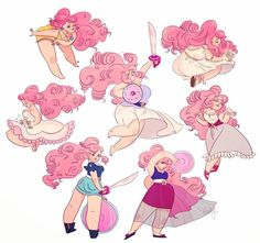 Hard days and I'm very tyred but here are some gestures of Rose Quartz from SU