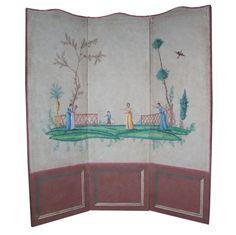 French neoclassical paper screen circa 1800