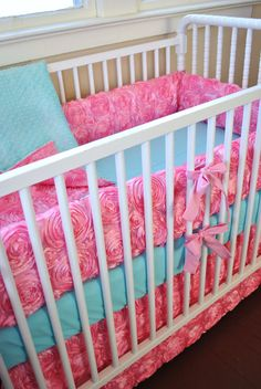 Hey, I found this really awesome Etsy listing at https://www.etsy.com/listing/190782907/baby-bedding-baby-girl-bedding-in-pink