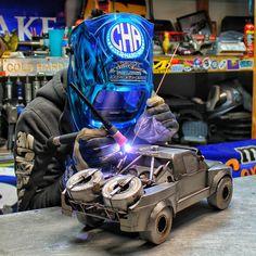 Ford raptor trophy truck cold hard art  metal art miller welder trick tools arc zone