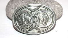Minimal Wear from Age Measures by Marked Buckles of America, Rocklin, CA USA Indian Head, Alchemy, Belt Buckles, Pewter, Buffalo, America, Antiques, Silver, Handmade