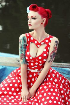 by Sad Man's Tongue, Photos by Grymin Fotografie and Photography by Helena Bromboszcz To say that Polish Pin Up girl Rockagirl is hot, would be a clear understatement. In the several features… Estilo Pin Up, Estilo Retro, Rockabilly Style, Rockabilly Fashion, Retro Fashion, Vintage Fashion, Rockabilly Girls, Rockabilly Dresses, Goth Girls