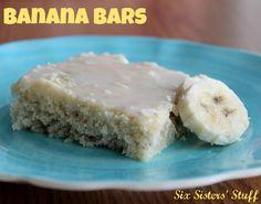 Banana Bars Recipe   Six Sisters' Stuff
