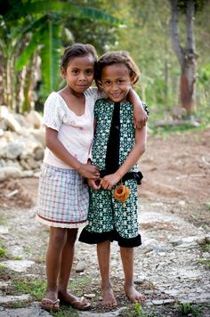 Say hello to these lovely girls from Timor-Leste
