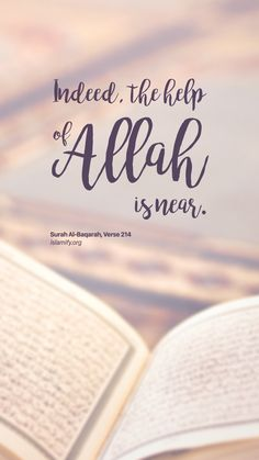 the help of Allah is near Prophet Muhammad Quotes, Hadith Quotes, Allah Quotes, Muslim Quotes, Beautiful Quran Quotes, Quran Quotes Inspirational, Islamic Love Quotes, Learn Quran, Learn Islam