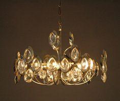 Gaetano Sciolari Ovali glass chandelier vintage door ICONICLIGHTS, €655.00