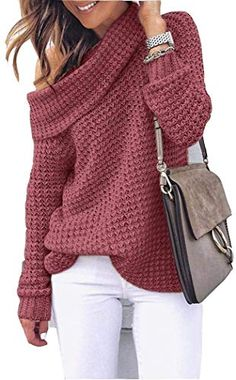 Cute Women casual winter outfits 2019 - Ready To Meal Casual Winter Outfits, Winter Outfits 2019, Winter Sweater Outfits, Fall Outfits, Sweater Dresses, Chunky Sweater Outfit, Cute Winter Sweaters, Black Outfits, Loose Sweater