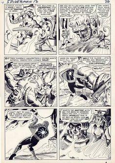 Amazing Spider-man page 20 Comic Art Spectacular Spider Man, Amazing Spider, Anime Comics, Marvel Comics, Comic Books Art, Book Art, Steve Ditko, Comic Artist, Marvel Universe